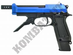 M93R Gas Blowback Airsoft BB Gun Black and Blue